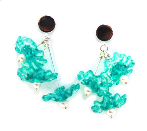 Flowers in Aquamarine Earrings | The Earring Collection