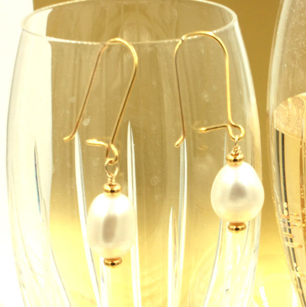 Pearl Drop Earrings | Champagne & Bubbles Collection