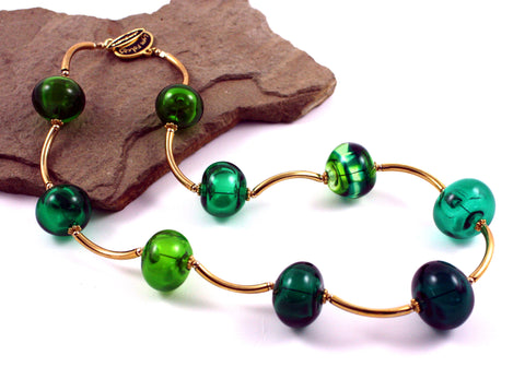 Bubbles in Green Necklace |  The Bubble Necklace Collection