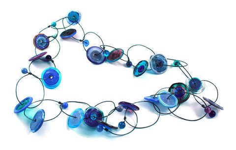 Blueberry Disks Necklace | The Long Collection