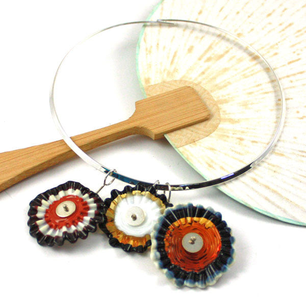 Molasses & Cream Ruffles Necklace  | The Pendant Collection