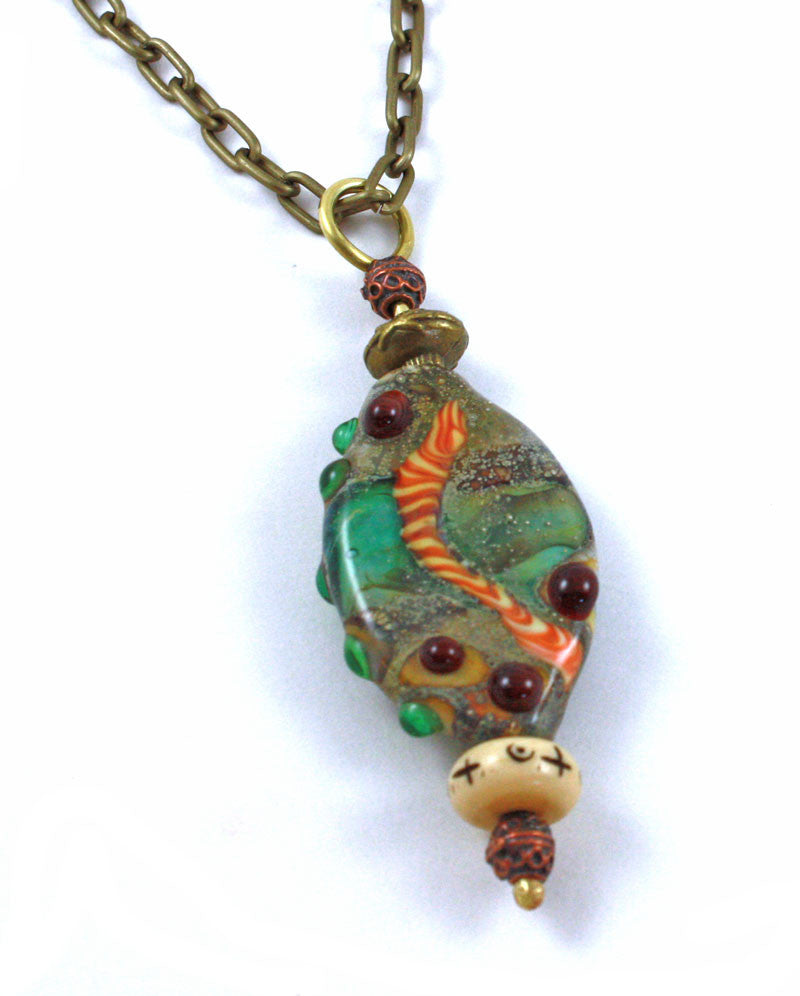 necklace snake catbird ancienthoney golden honey ancient serpent pendant
