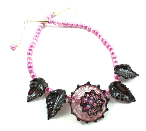 Pincushion Cactus at Night Necklace | The Flower Necklace Collection