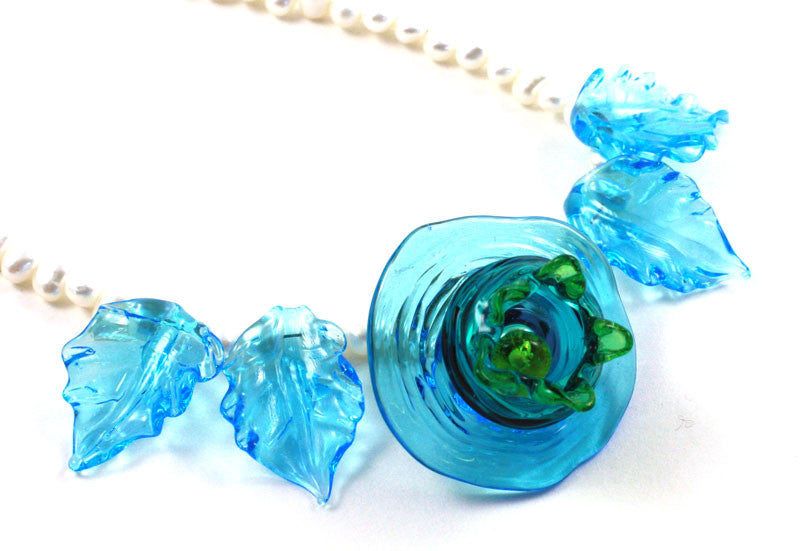 Blue Seed Pod Necklace | Desert Blooms Collection