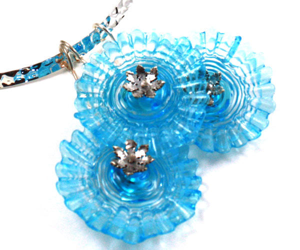 Three Ruffles in Blue Necklace | Desert Blooms Collection