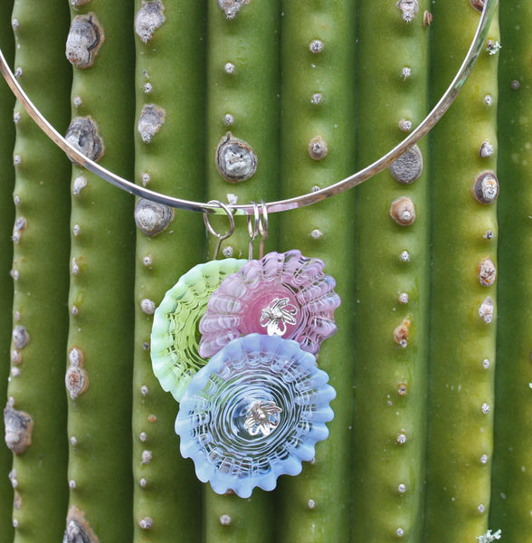 Colorful Cactus Flowers Necklace | Desert Blooms Collection