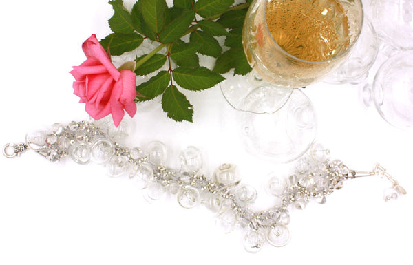 Cristal Necklace | Champagne & Bubbles Collection