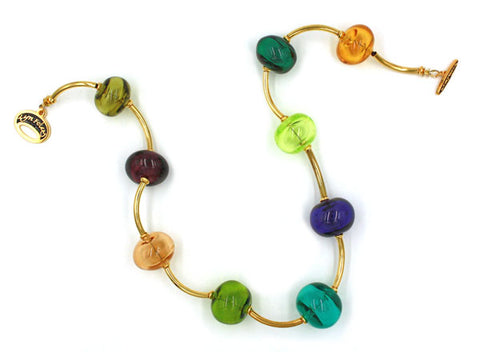 Jewel Toned Bubbles Necklace |  The Bubble Necklace Collection