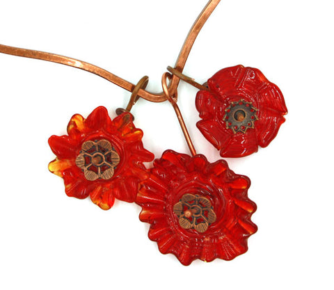 Red Flowers Necklace | The Pendant Collection