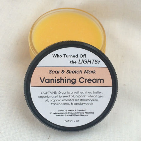 Vanishing Cream - Stretch Mark & Wrinkle Cream (Organic) - Who Turned Off The Lights?