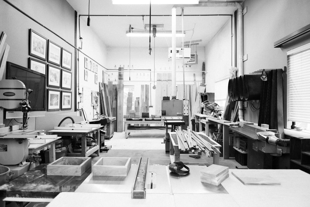 Make & Stow's studio space in Salem, Oregon