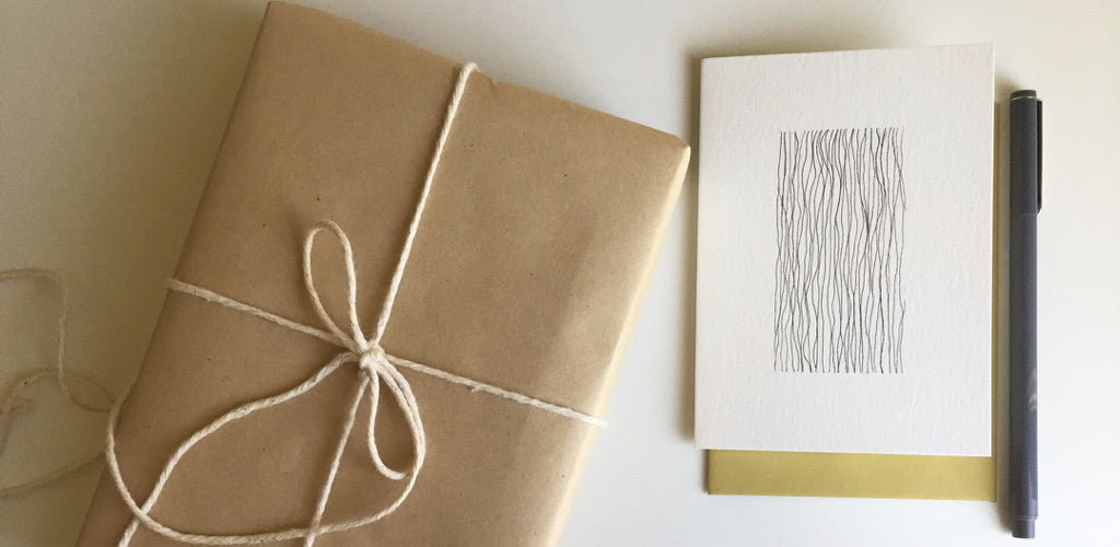 Handmade cards with pen and ink by Irene Manjarrez