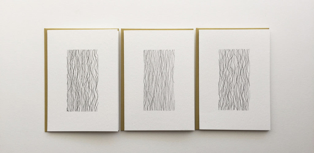Handmade cards in pen and ink by Irene Manjarrez