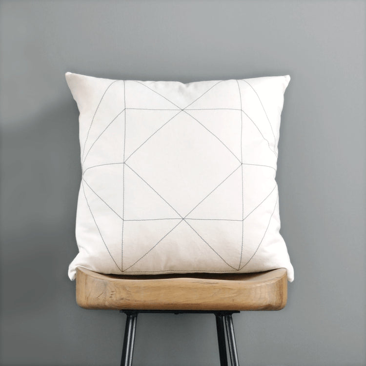 Stitched Gem Pillow