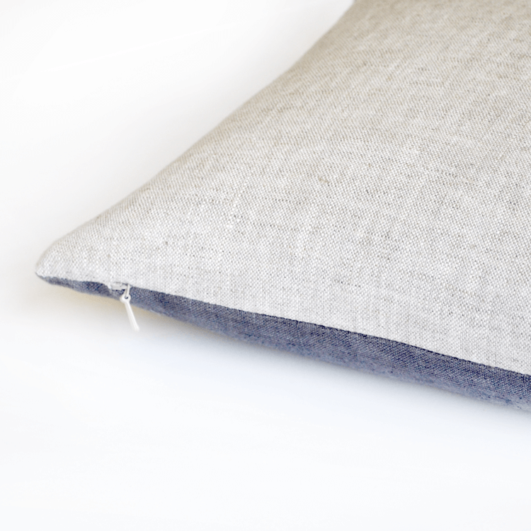 Gray Lumbar Linen Pillow
