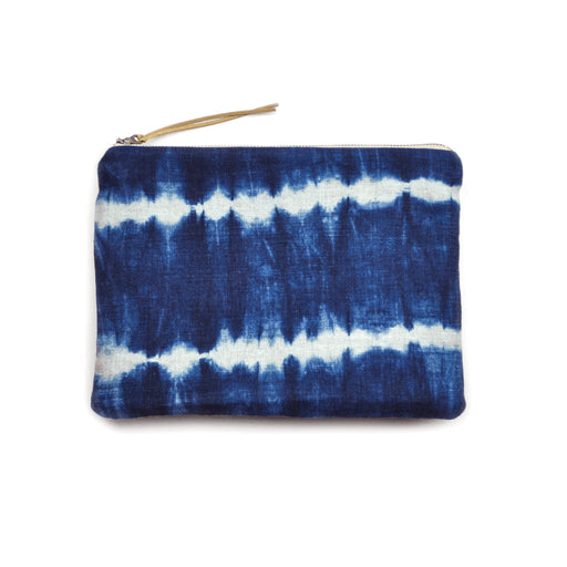 Shibori Striped Clutch