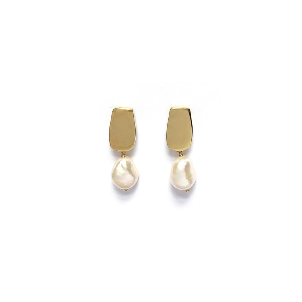 Siren Studs with Baroque Pearls