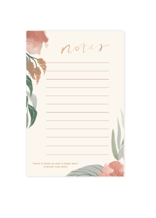 Spring Floral Notepad