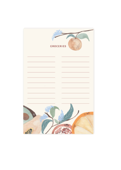 Summer Fruit Grocery Notepad