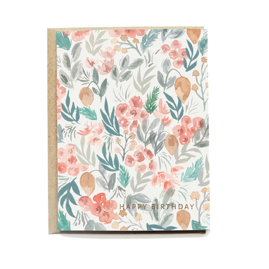 Citrus Floral Birthday Card