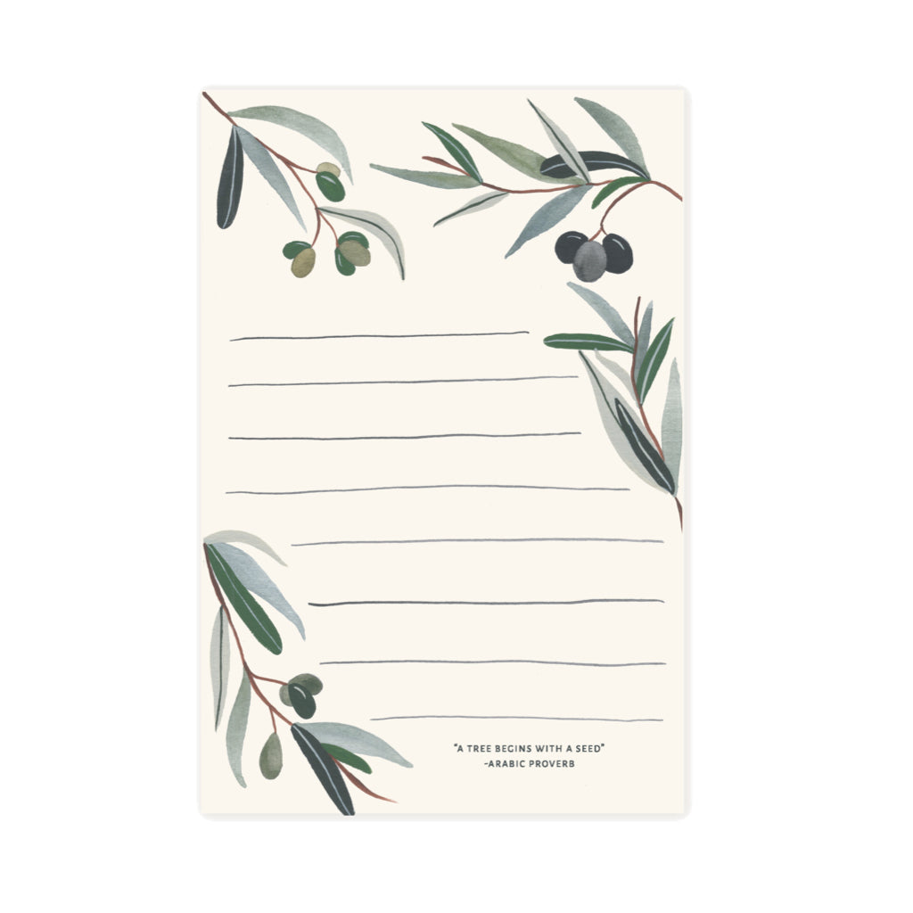 Olive Branch Notepad