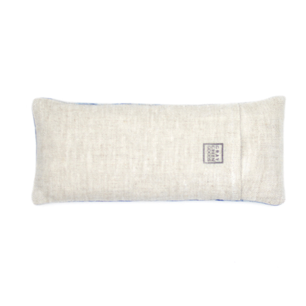 Naturally Dyed Grey Lavender & Flax Linen Eye Pillow