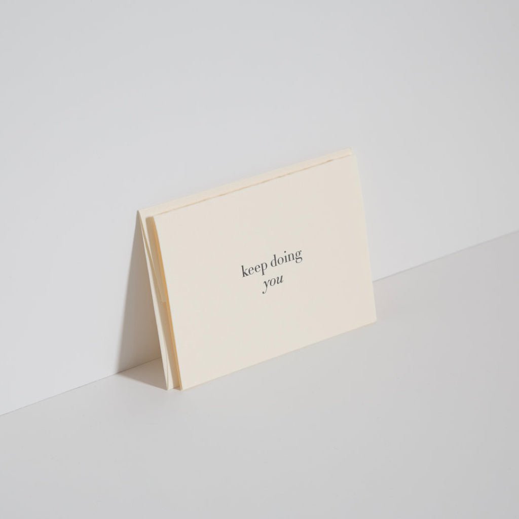 Keep Doing You Letterpress Card