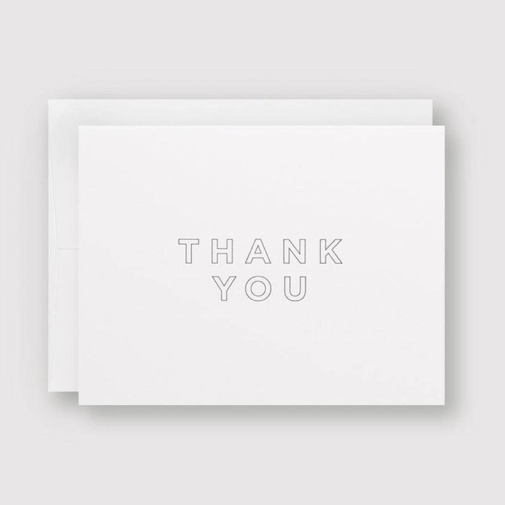 Minimal Thank You Letterpress Card