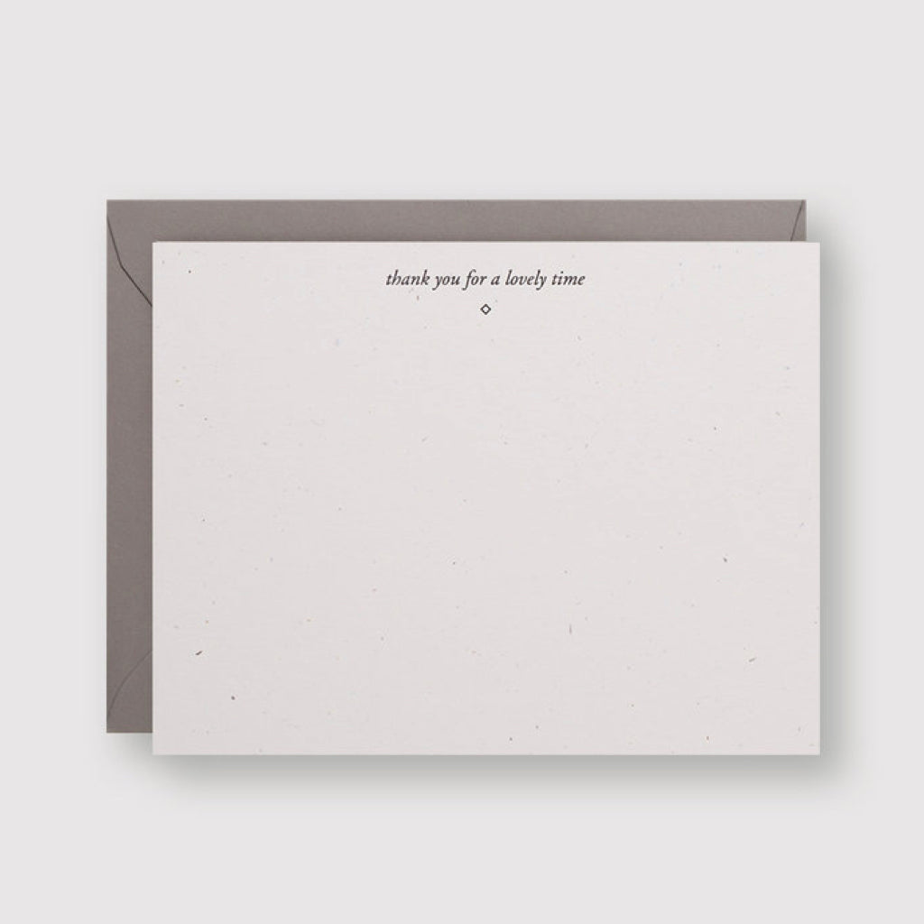 Lovely Time Letterpress Card