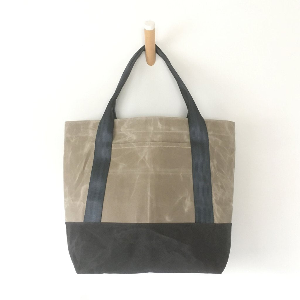 Aluminum Waxed Canvas Utility Tote