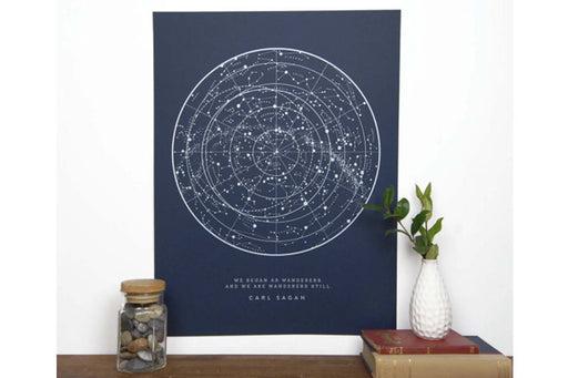 Sagan Star Chart, Wild Wander Co.,  48 & sea - 3