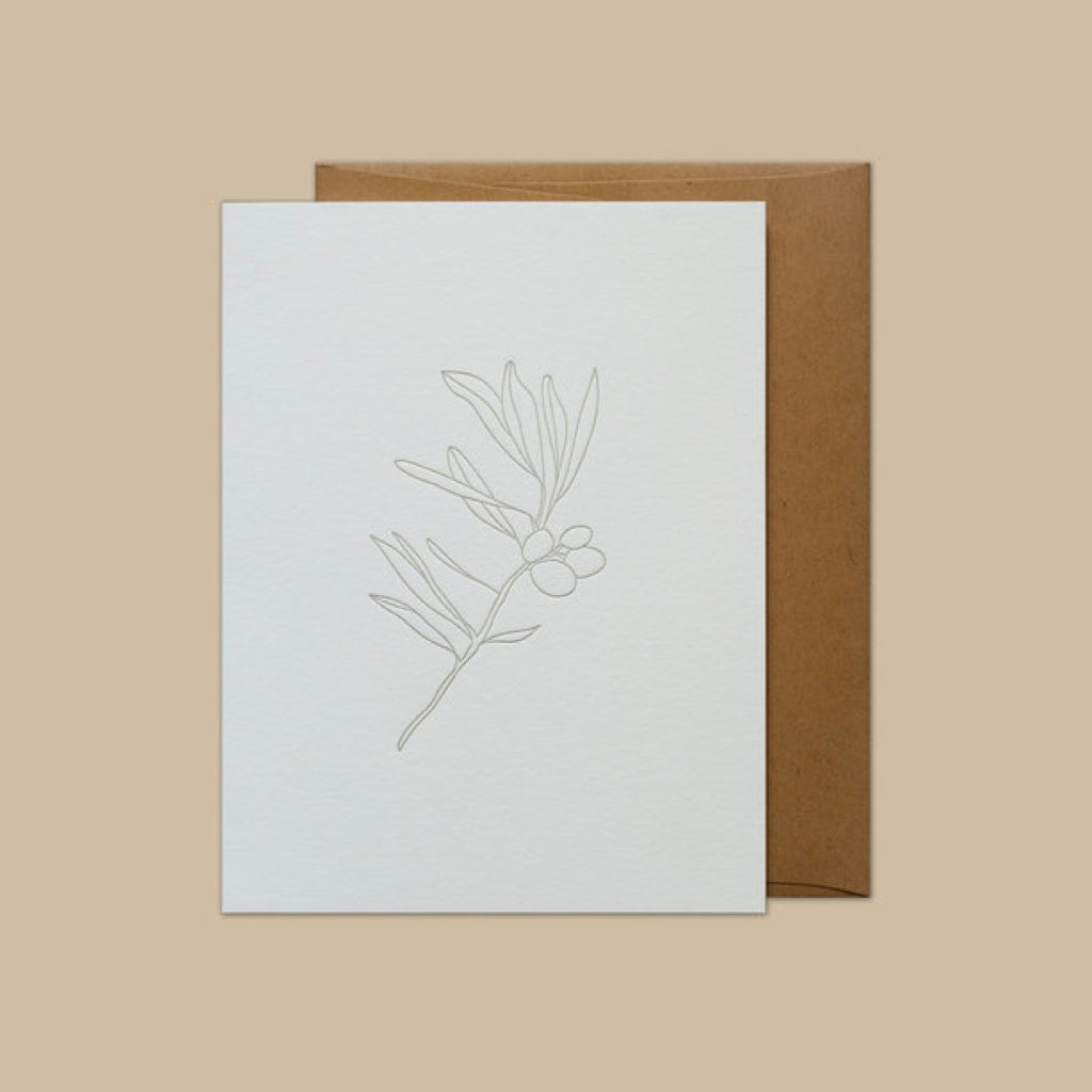 Olive Branch Letterpress Card