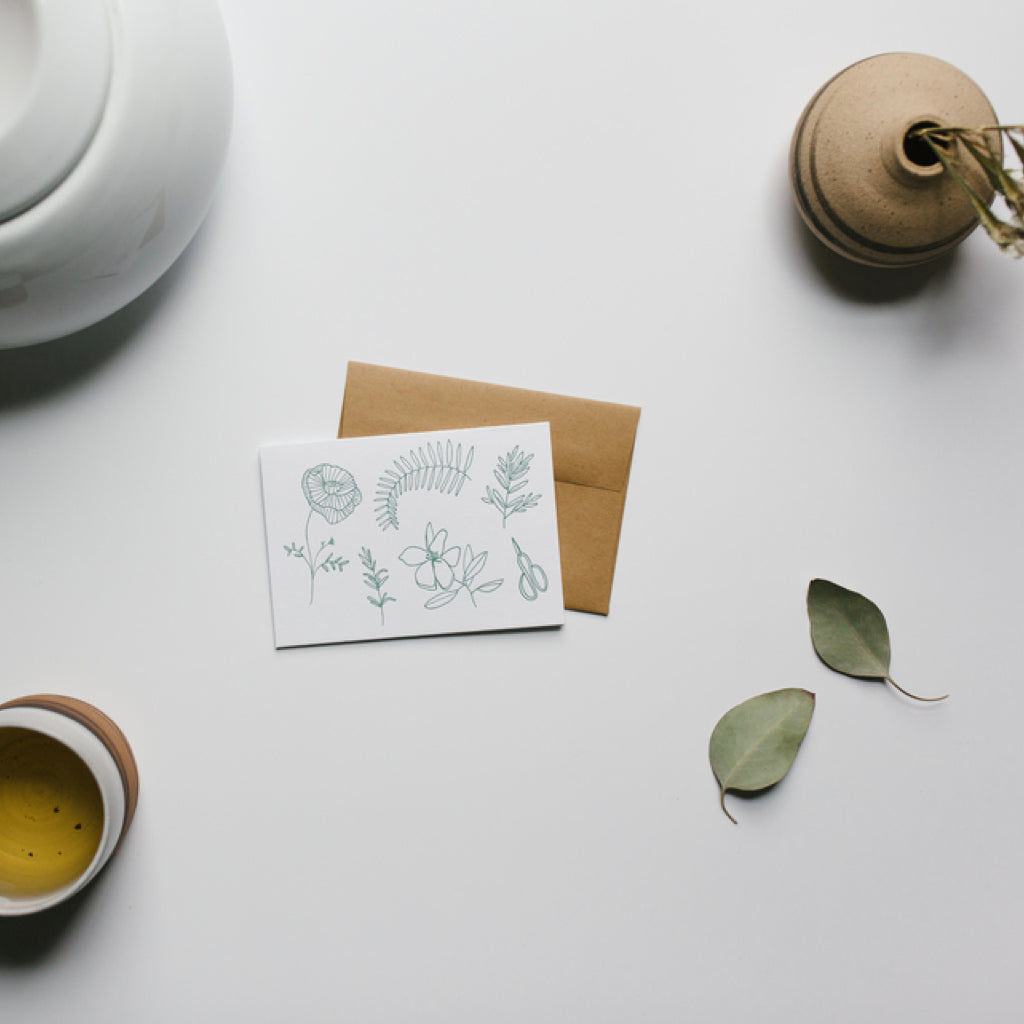 Botanical Letterpress Card
