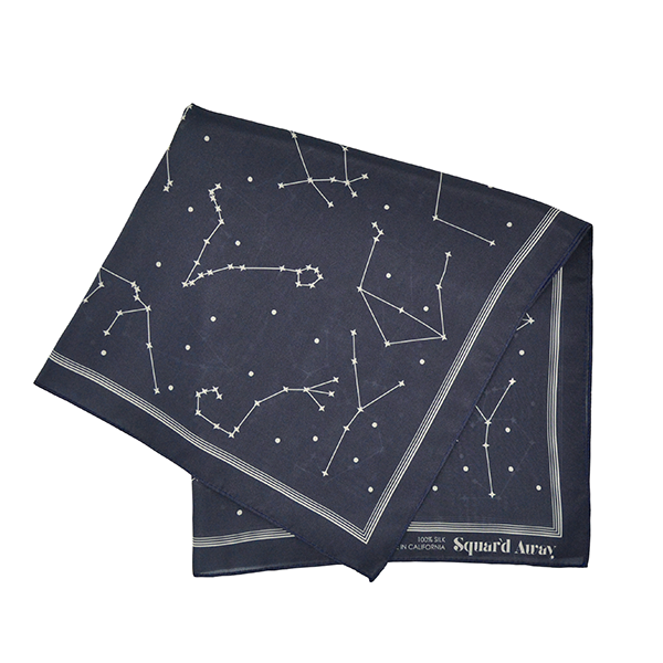 Deep Night Sky Silk Scarf