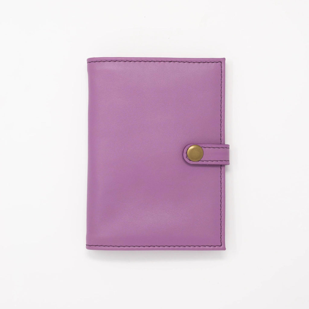 Leather Travel Wallet in Lavender