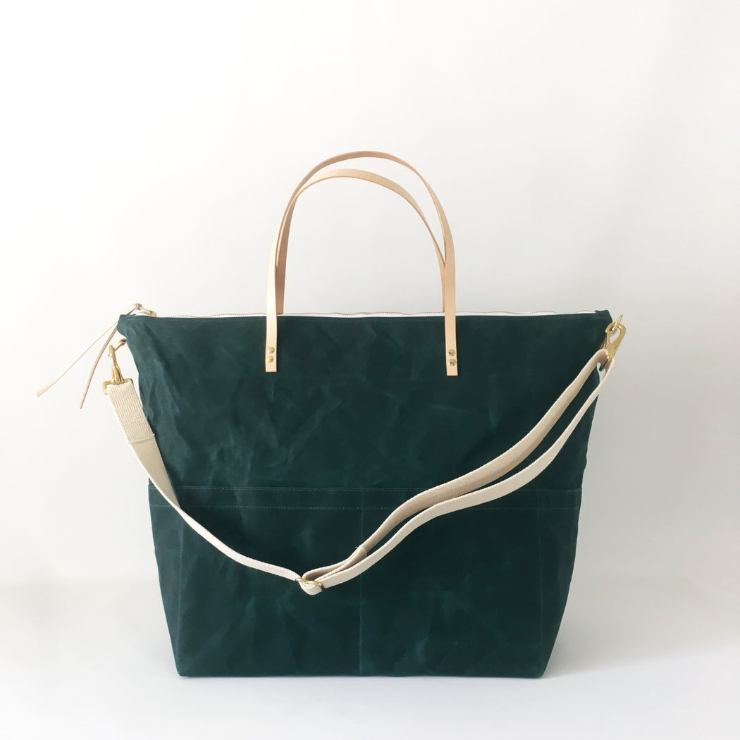 Evergreen Waxed Canvas Weekender