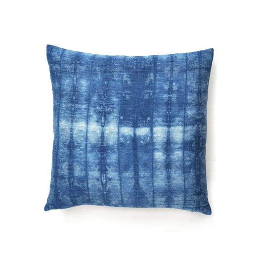 Shibori Indigo Stripe Linen Pillow