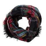 chic-black-multicolor-plaid-infinity-scarf