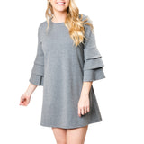gray-ruffle-fall-dress