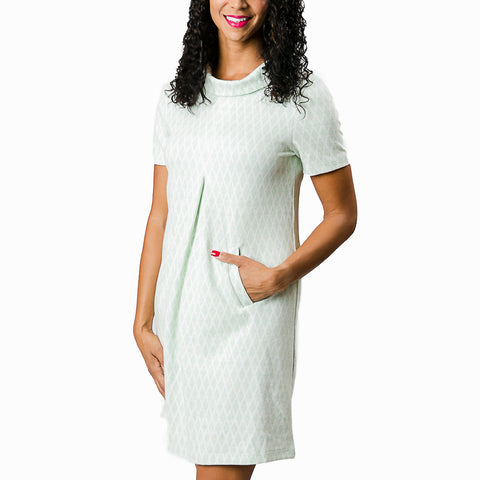 mint-trendy-cowl-dress