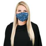 Navy Botanical non medical facemask
