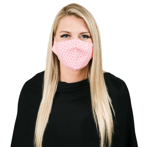 Hot pink mosaic non medical facemask