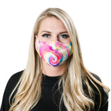 rainbow tie die non-medical facemask