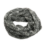 Faux Fur Scarf, Cozy Scarf, Winter Accessories, infinity, gray snake