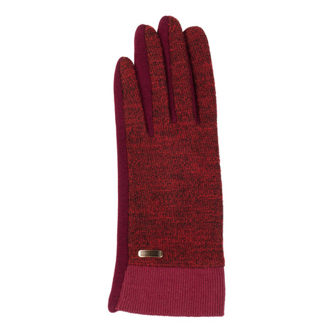 heather red glove, touch screen glove