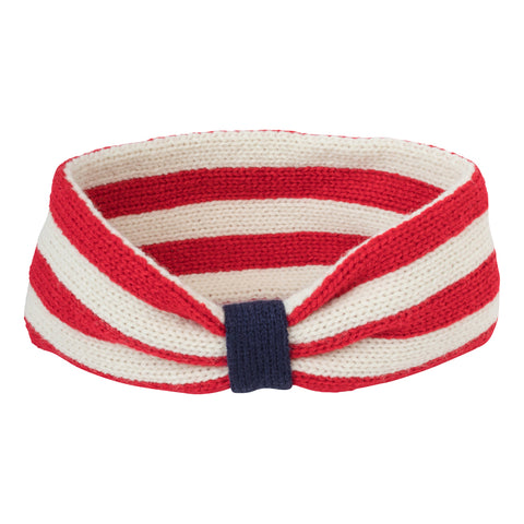 acrylic knit winter headband patriotic stars & stripes