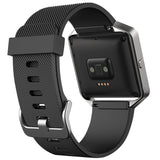 Replacement Watch Strap For Fitbit Blaze (Black) - Smash Terminator - 2