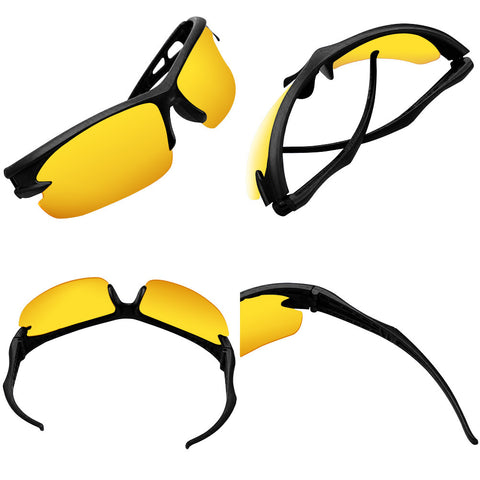 Cycling & Running Sports Shades (Black/Yellow) - Smash Terminator