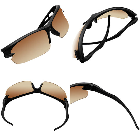 Cycling & Running Sports Shades (Black/Brown) - Smash Terminator