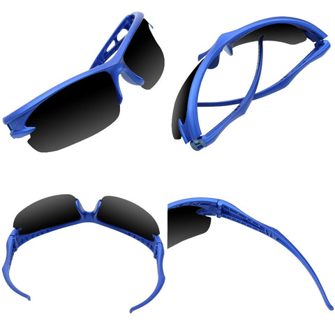 Cycling & Running Sports Shades (Black/Blue) - Smash Terminator
